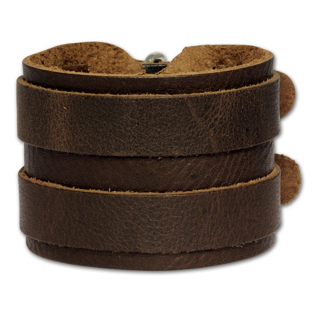 silberdream lederarmband braun herren leder armband la2247b ebay. Black Bedroom Furniture Sets. Home Design Ideas