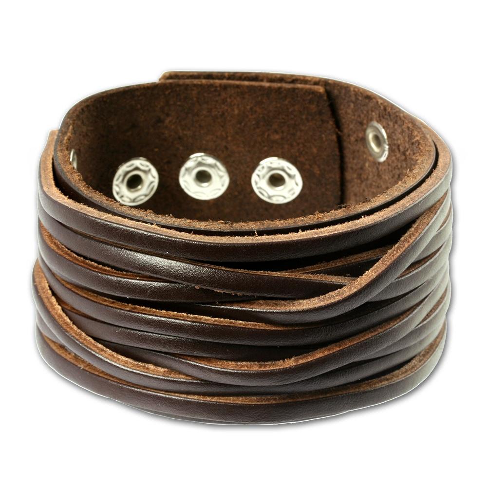 silberdream lederarmband braun herren leder armband. Black Bedroom Furniture Sets. Home Design Ideas