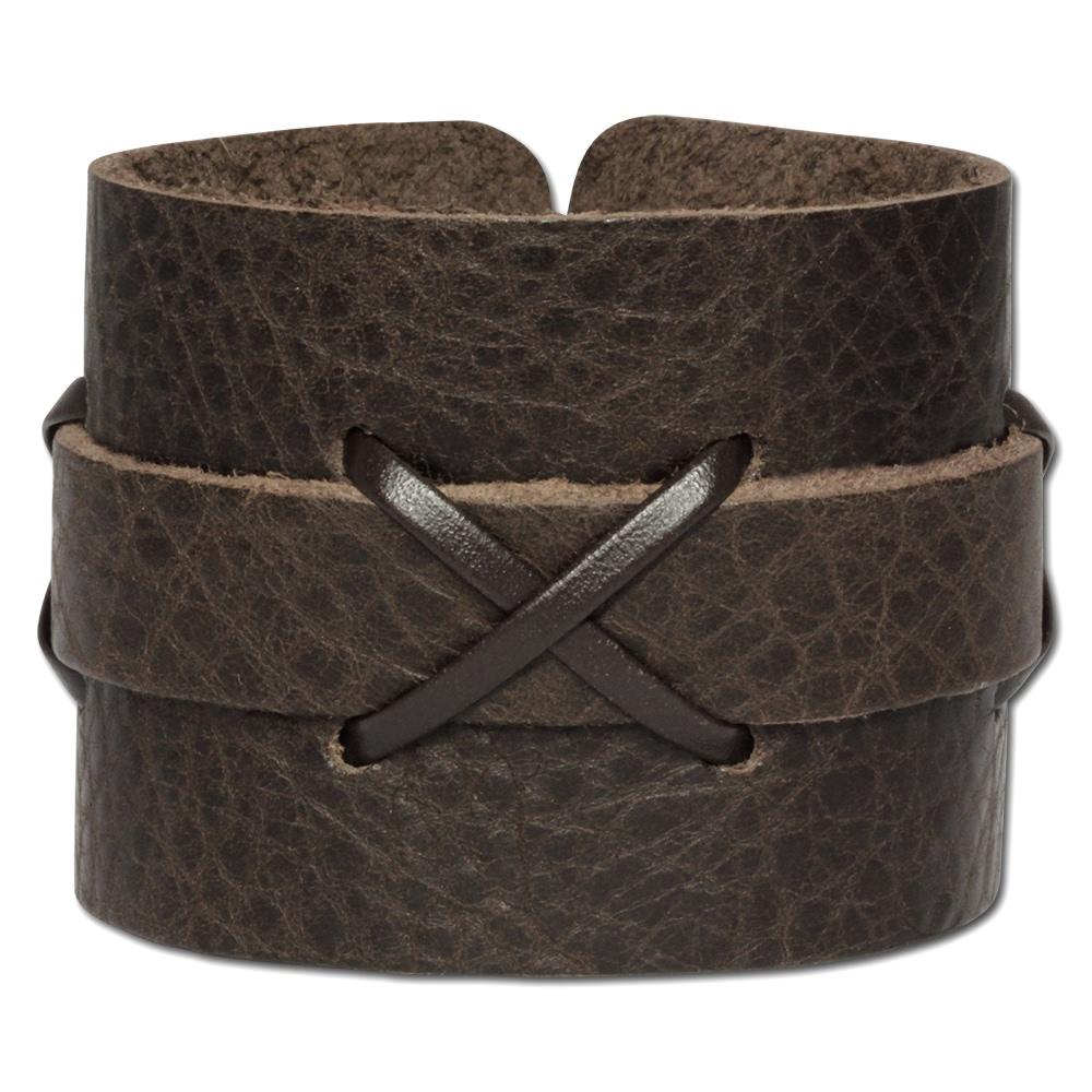 silberdream lederarmband braun herren leder armband la4071b ebay. Black Bedroom Furniture Sets. Home Design Ideas