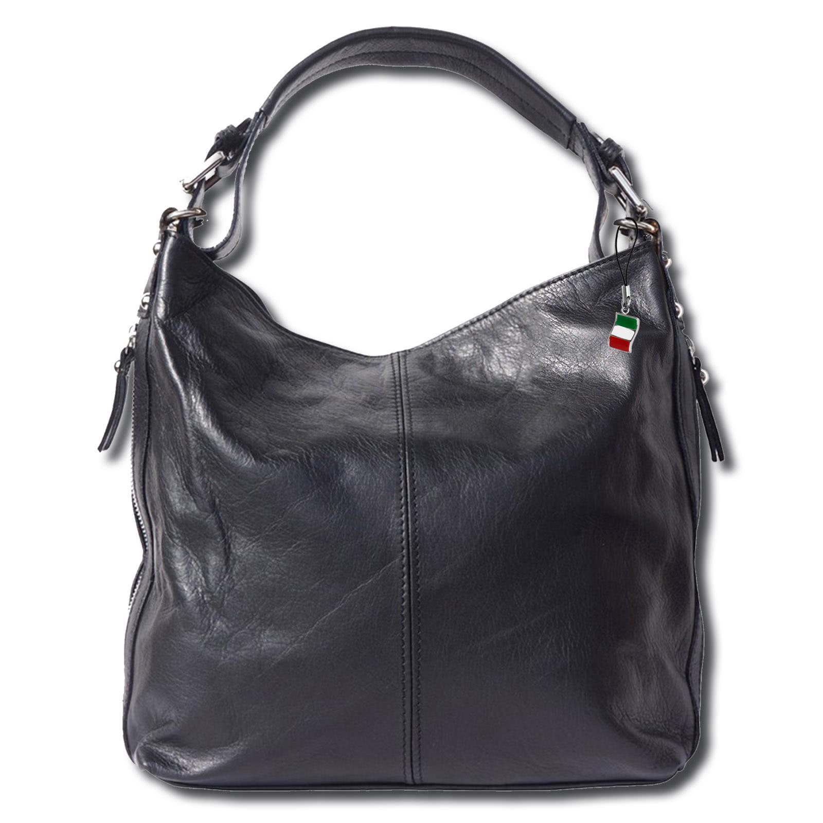 beuteltasche handtasche damen handtasche leder schwarz. Black Bedroom Furniture Sets. Home Design Ideas