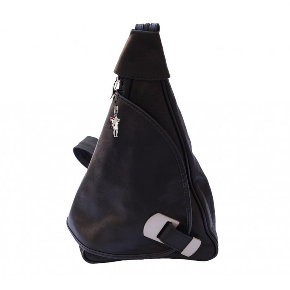rucksack leder schwarz damen rucksacktasche handtasche. Black Bedroom Furniture Sets. Home Design Ideas