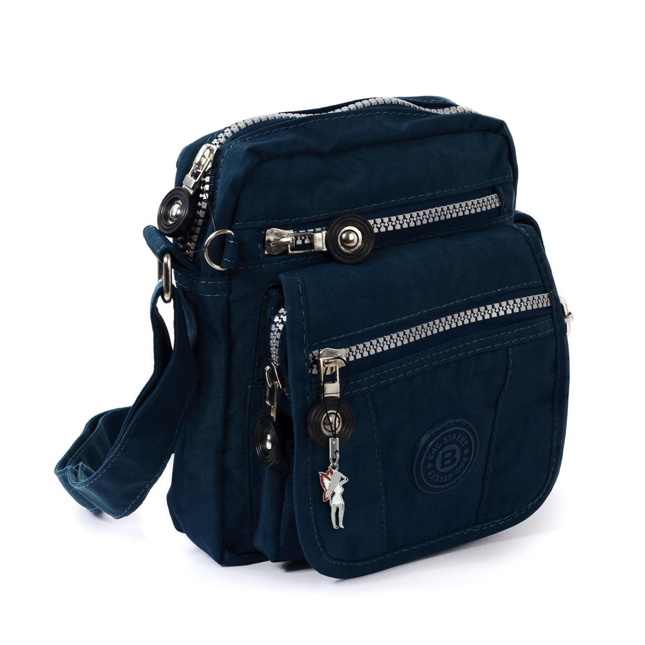 bag street umh ngetasche nylon blau kleine schultertasche crossover otj215b ebay. Black Bedroom Furniture Sets. Home Design Ideas