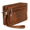 Handgelenktasche Leder tan braun Herrentasche Smartphonefach Imppac OTJ512C