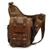 Umhängetasche Canvas braun Crossover Messengerbag Schultertasche OTK200N