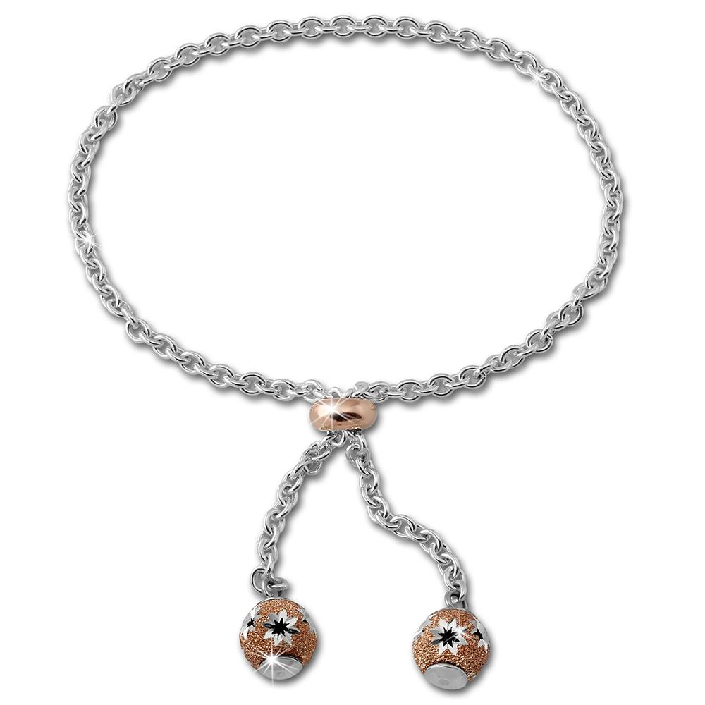 SilberDream Armband Blumen Rose vergoldet 925er Sterling Silber Damen SDA2215E