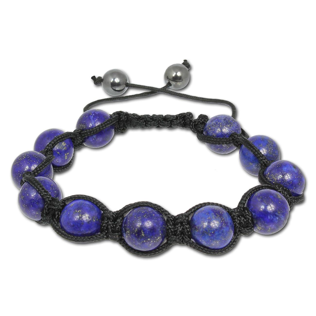 Shamballa-Armband mit blauen Aventura