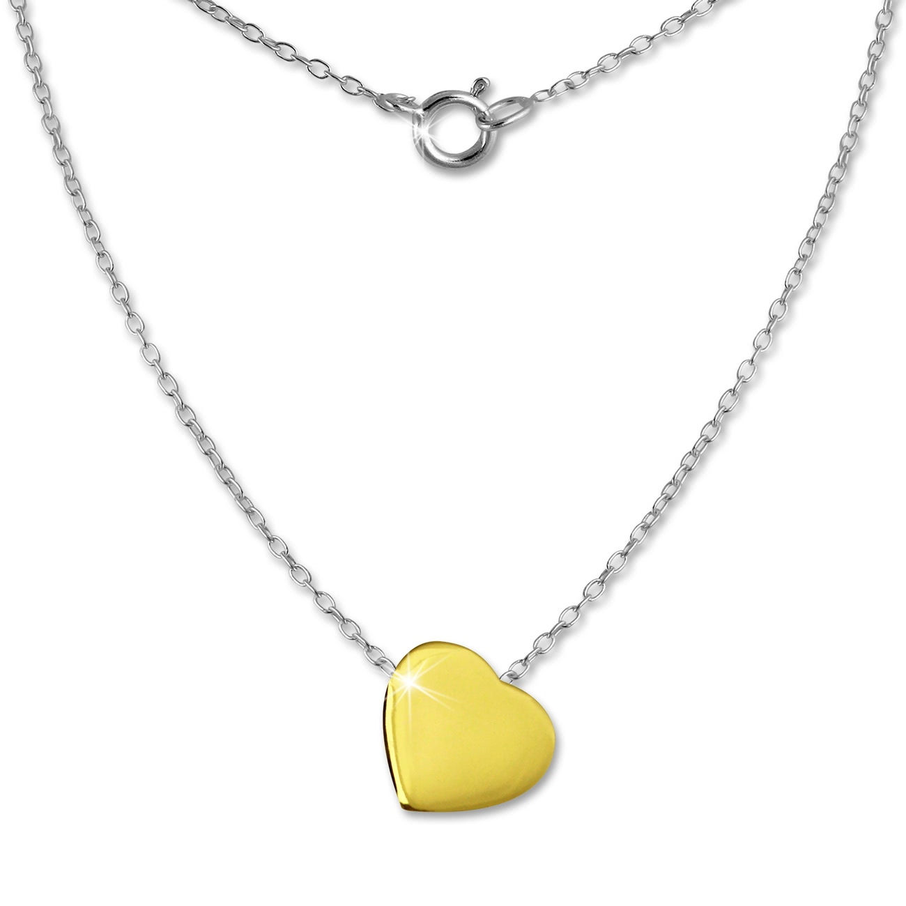 Silver Dream chain<br> Heart plated 925<br>sterling sil