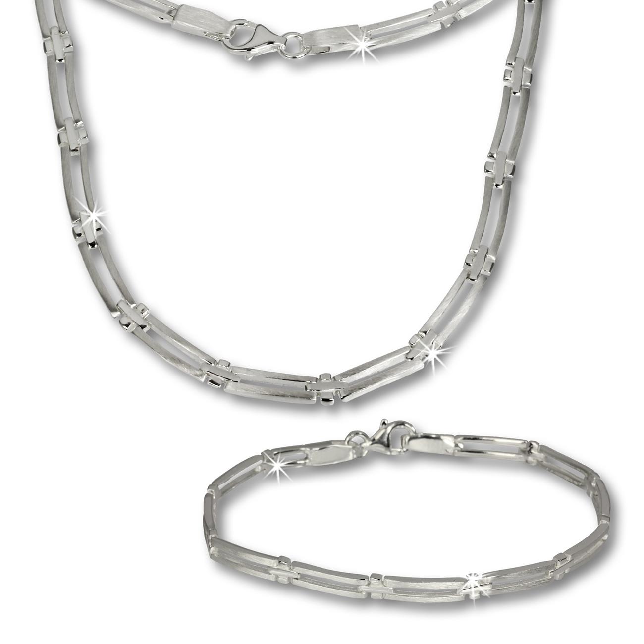 Schmuckset silber  SilberDream Schmuck Set Trendy Collier & Armband 925 Silber SDS407 ...